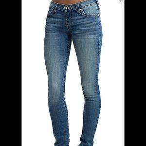 new TRUE RELIGION women Skinny blue jeans Sz 30